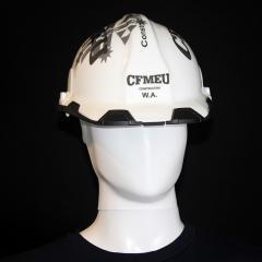 CFMEU Custom Hardhat Black | CFMEU Western Australia